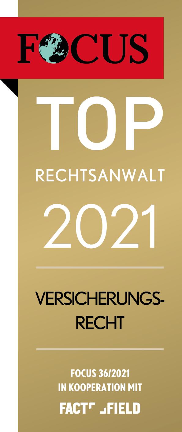 Jürgen Wahl Focus TOP Rechtsanwalt 2021 Verischerungsrecht Hanau